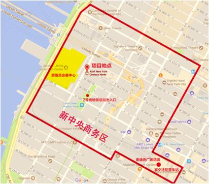 曼哈顿第十一大道酒店项目地理位置