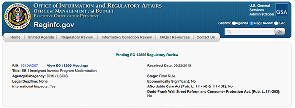 EB-5移民局涨价提案接近出台