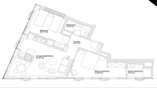 G罗塔纳Rotana酒店公寓户型图