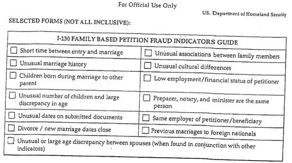 美国婚姻移民被移民局指控婚姻欺诈该怎么办?